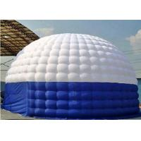 White / Blue Outdoor Airtight Inflatable Camping Tent  Made Of 0.9mm PVC Tarpaulin Manufactures