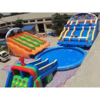 2014 New Design Inflatable Water Toys , Slide and Pool / Water Slide Park Manufactures