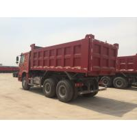 Red Color 336hp Sinotruk Howo Dump Truck With 10 Wheels And 18m3 Capacity Manufactures
