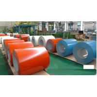 PPGI Color Coated Steel Coil , RAL9002 Galvanized Steel Sheet In Coil Manufactures