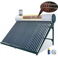 evacuated tube solar water heater tank with copper coil Manufactures