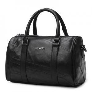 Genuine Leather Fashion Ladies HandBags Black Shoulder With Adjustable Shoulder Strap Manufactures