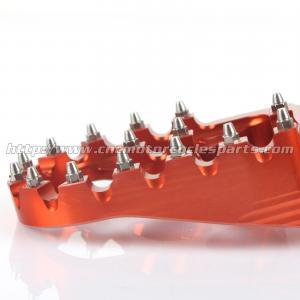 Quality Ktm SX 144 150 EXC 200 250 Dirt Bike Passenger Foot Pegs Aluminum Alloy Orange for sale