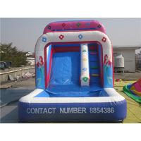 Quality Outdoor Amusement Mermaid Pink Inflatable Water Slide Double Strong Stitching for sale