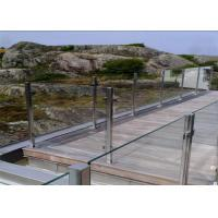 Residential Balcony Stainless Steel Glass Railing Flooring Mounted Customized Size Manufactures