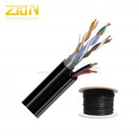 2 Twisted Pairs FTP CAT5E 24AWG Solid Copper with CCA Power for CCTV IP Camera Manufactures