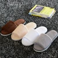 Buy cheap Open Toe / Closed Toe Hotel Room Slippers Disposable Bathroom Slippers With Embroider from wholesalers