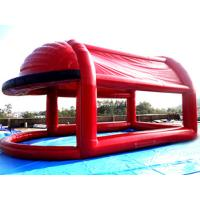 China Red Colour UV Protected Kids Inflatable Pool with Tent for Sports Games on sale