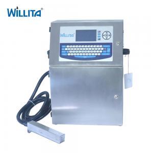 No Blocking 4 Lines Inkjet Coder Machine , Automatic Grade Industrial Batch Printing Machine Manufactures