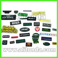 Buy cheap Custom PVC material sewing type velcro type badges and patches for clothing bag from wholesalers