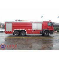 High Capacity Pumper Tanker Fire Trucks Power 265KW With Pump Drive System Manufactures