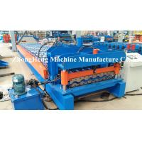 Roofing Sheet / Roof Tile Roll Forming Machine With Hydraulic Cutting System Manufactures