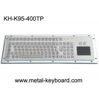 Water Proof Stainless Steel 95 Keys Metal Industrial Keyboard Layout Customizable Manufactures