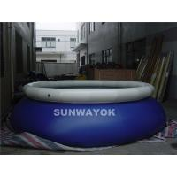 Swiming Blue Inflatable Round Pools White Cover Water Proof  Pvc Tarpaulin CE Manufactures