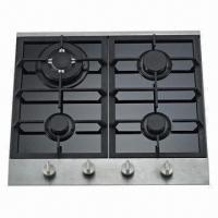 Gas Hob with 4 Burners Glass and SS Panel Manufactures