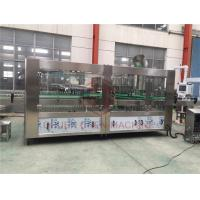 China Basil Seed Filling And Capping Machine / Glass Bottle Juice Rinsing Bottling Line on sale