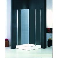 Custom Glass Shower Enclosure 760 X 760 , Bathroom Shower Glass Enclosures With Chrome Knob Manufactures
