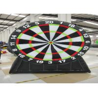 China Commercial Inflatable Sports Games Inflatable Football Dart Board 0.55mm Pvc Tarpaulin on sale