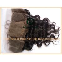 Indian virgin remy hair silk lace frontal 13''x4'' ,natural color body wave 10''-24''. Manufactures