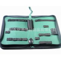 Home Small Soft Canvas Tool Bag With14 Elastic Bands 32*21*5.5 Cm Manufactures