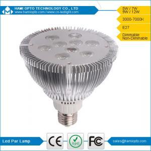 Energy Saving High-power AC85-265V 9W LED Par Lights E26 / E27 With Fin Heat Sink Manufactures
