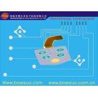 Metal Dome Flat Push Button LED Membrane Switch IP67 With Short Tail Manufactures