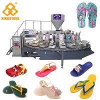 Adults / Kids PVC Slipper Rotary Table Injection Molding Machine With Air Blowing System Manufactures
