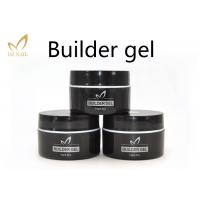 Private Label UV Nail Builder Gel Clear , Hard Nail Extension Soak Off Jelly Gel Polish Manufactures