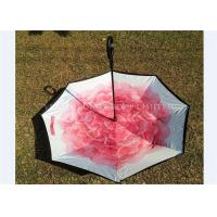 Custom Printing Reverse Folding Umbrella Opens Upside Down Promotional Use Manufactures