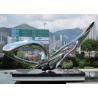 Buy cheap Contemporary Modern Stainless Steel Sculpture , Large Garden Metal Art Sculpture from wholesalers