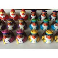 Quality Indoor Christmas Decorations Weighted Rubber Ducks Bath Toy 5cm Length for sale