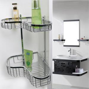 Quality OEM Hotel Bathroom Corner Shelf Bathroom Fittings No Assembly for sale
