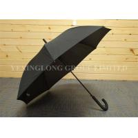 Business Style Rubber J Handle Umbrella  , Plain Black Umbrella Latest Design Manufactures
