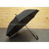 Buy cheap Business Style Rubber J Handle Umbrella  , Plain Black Umbrella Latest Design from wholesalers