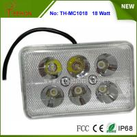 18W Rectangle LED Work Light, LED Headlight for Motorbike, Replacing halogen lamp or HID Manufactures