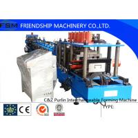PLC Control C Z Purlin Roll Forming Machine With Punching Systerm Manufactures