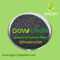 HOT SALE DOWCROP HIGH QUALITY  POTASSIUM HUMATE FLAKES BLACK FLAKES 100% WATER SOLUBLE FERTILIZER ORGANIC FERTILIZER Manufactures