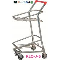 American Style Metal Shopping Basket Trolley / Two Basket Shopping Cart 50KGS Manufactures