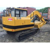 Quality secondhand Japan origin weight 6900kg small Caterpillar E70B midi excavator for sale