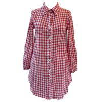 Cotton Long Plaid Shirt womens work blouses Long Sleeve For Summer Manufactures