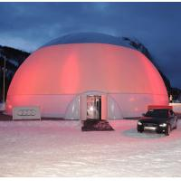 Air - sealed Outdoor Trip Inflatable Lighting Dome Tent 0.45mm PVC Tarpaulin Manufactures