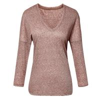 Buy cheap Natural Melange Linen Casual Ladies Clothing Long Sleeve Winter Collection from wholesalers