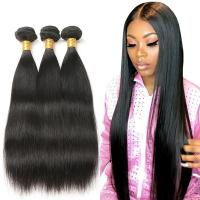Double Drawn Peruvian Straight Hair Body Wave No Tangling Natural Black Manufactures