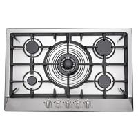 Kitchen 5 Burner Gas And Electric Stove , 5 Ring Gas Hob Stainless Steel Manufactures