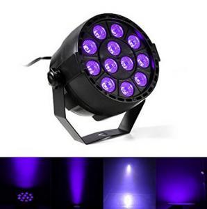 IP33 Voice-control Violet Led Disco Lights with Black + Transparent Cover Manufactures
