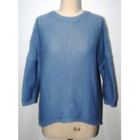 Comfortable Womens Navy Blue Sweater Half Dropped Sleeve BGAX16263 Manufactures