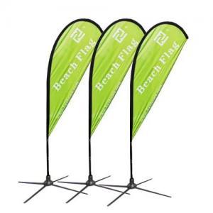 Outdoor advertising beach flag 2.8m 3.4m 4.6m 5.6m fiberglass pole Manufactures