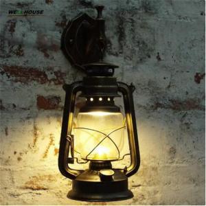 Retro Wall Lamp European Vintage Style kerosene lamp Beside Light for bar coffee shop Led lights Manufactures