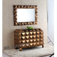Quality Bronzed Mirrored Bedroom Chest With Wall Mirror Customized Size Avaliable for sale