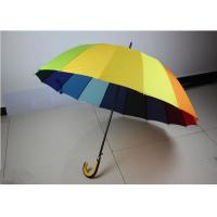 190T High Density Compact Rainbow Umbrella Water Resistant With Size 21 Inch * 16 K Manufactures